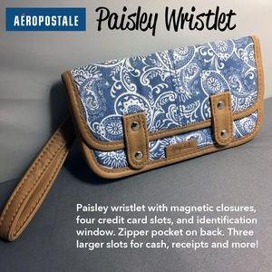 Aeropostale Paisley Wristlet